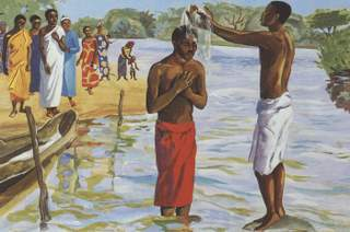 Baptism of Jesus by Jesus MAFA