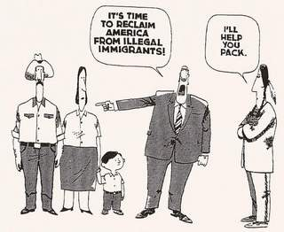 Illegal immigrants cartoon