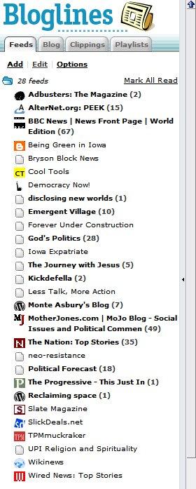 Bloglines list