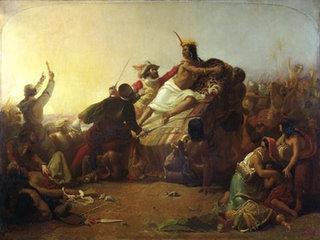 Atahuallpa and Pizarro
