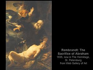 Rembrandt's Abraham and Isaac