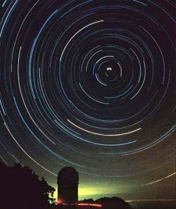 Night rotation of stars