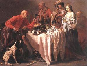 Jacob Reproaches Laban (Hendryck Terbrugghen, 1628, Web Gallery of Art)